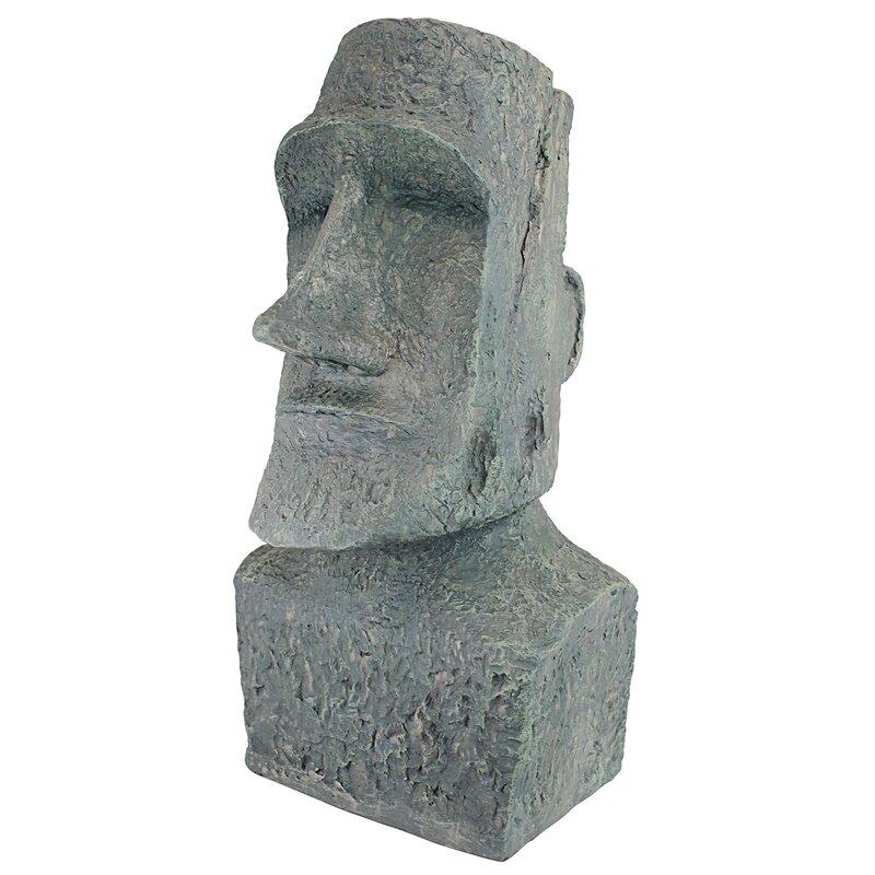 easter island ahu akivi moai monolith garden statue. Black Bedroom Furniture Sets. Home Design Ideas