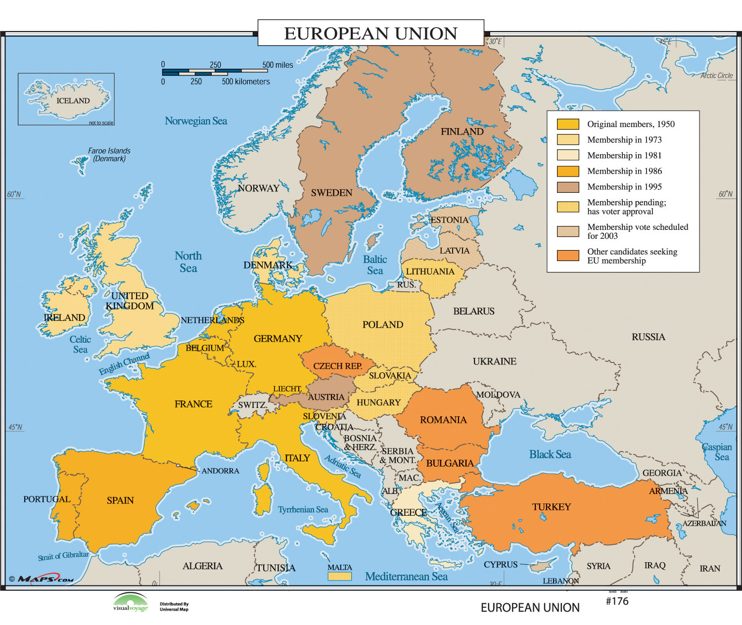 World History Wall Maps - European Union