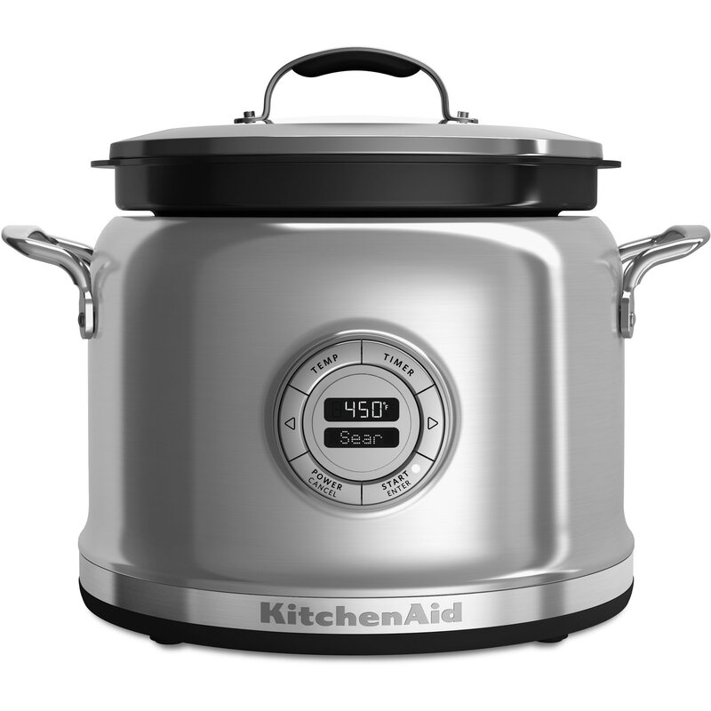 Kitchenaid 4 Qt Multi Cooker With Stir Tower Kmc4244 Reviews Wayfair