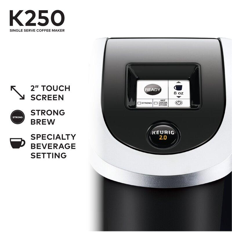 K250 Single Serve K Cup Pod Coffee Maker
