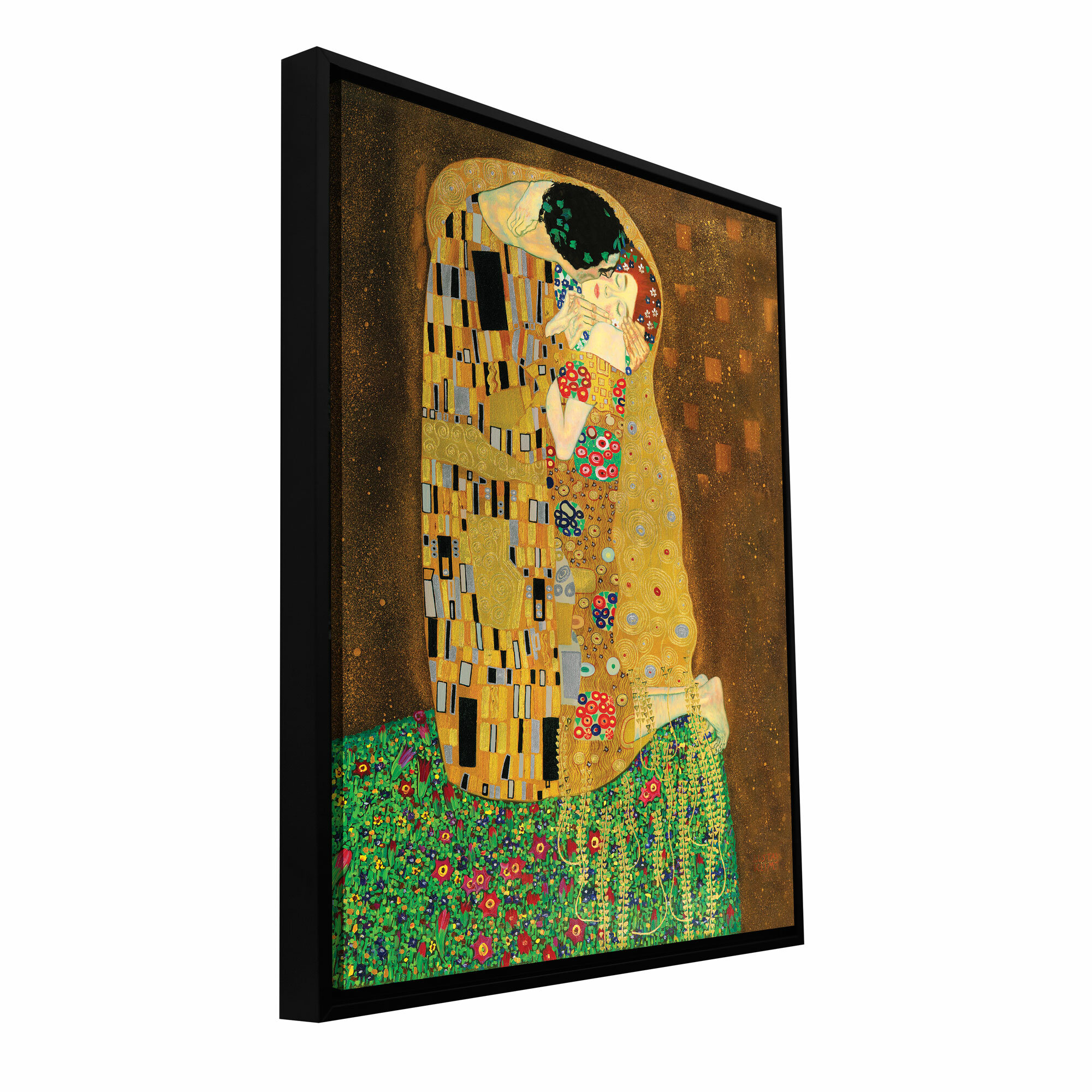 ArtWall \'The Kiss\' by Gustav Klimt Framed Painting Print on Wrapped ...