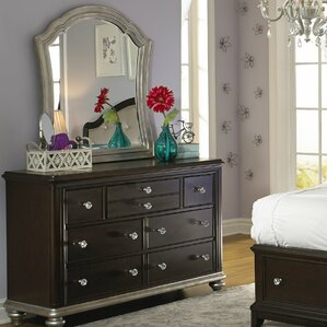 Dakotah 7 Drawer Double Dresser with Mirror by Viv + Rae
