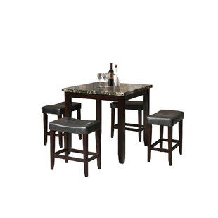 Kroeger 5 Piece Counter Height Dining Set