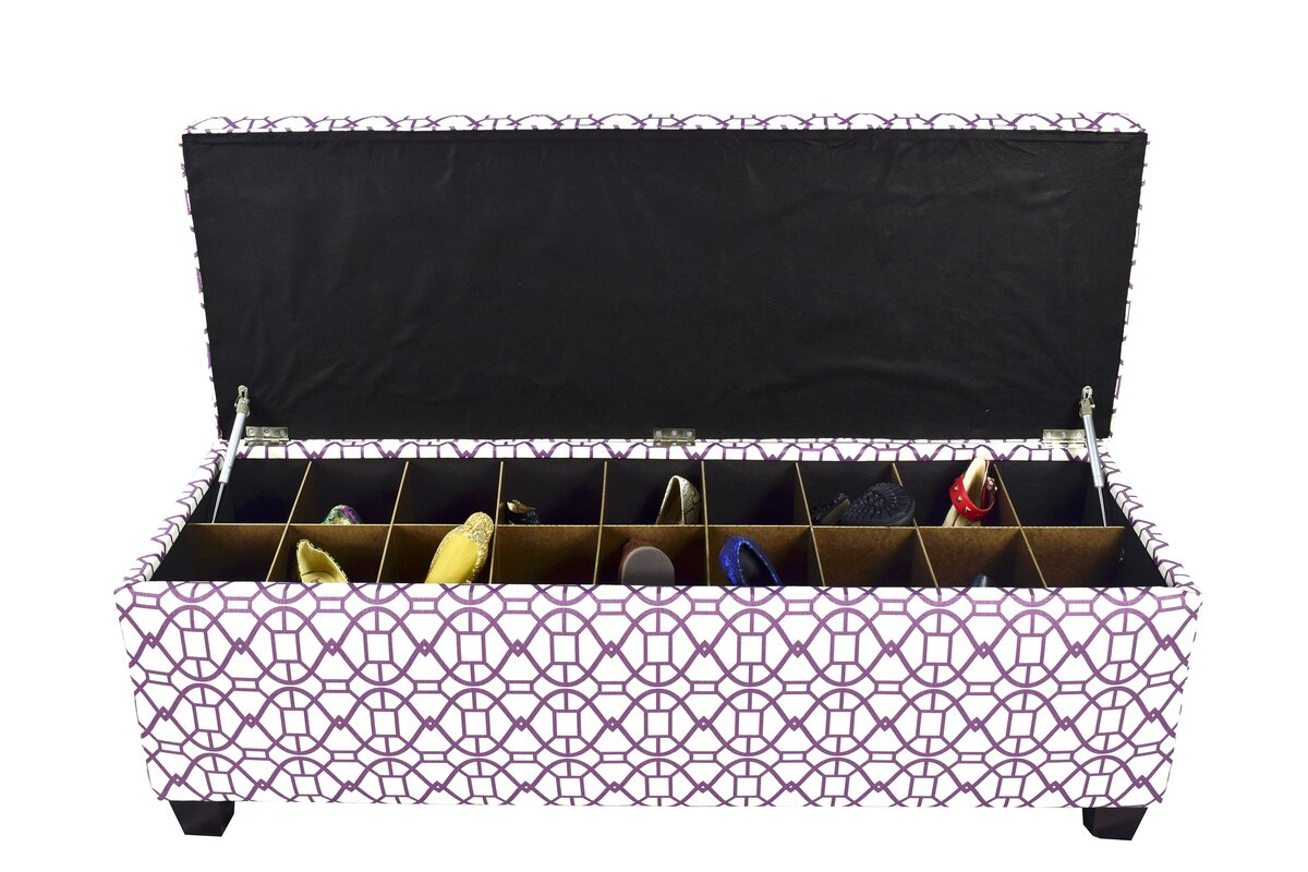 The Sole Secret Noah Fabric Storage Bench amp Reviews Wayfair