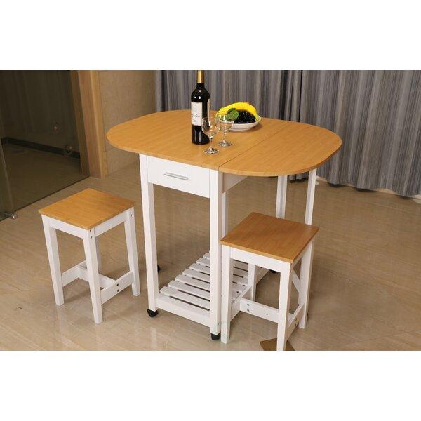 Kitchen Island Furniture Piece: August Grove Sophie 3 Piece Kitchen Island Set & Reviews
