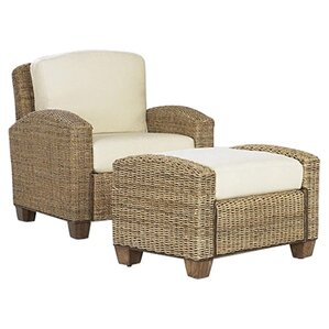 Cabana Banana Cotton Armchair with Ottoman by Home Styles