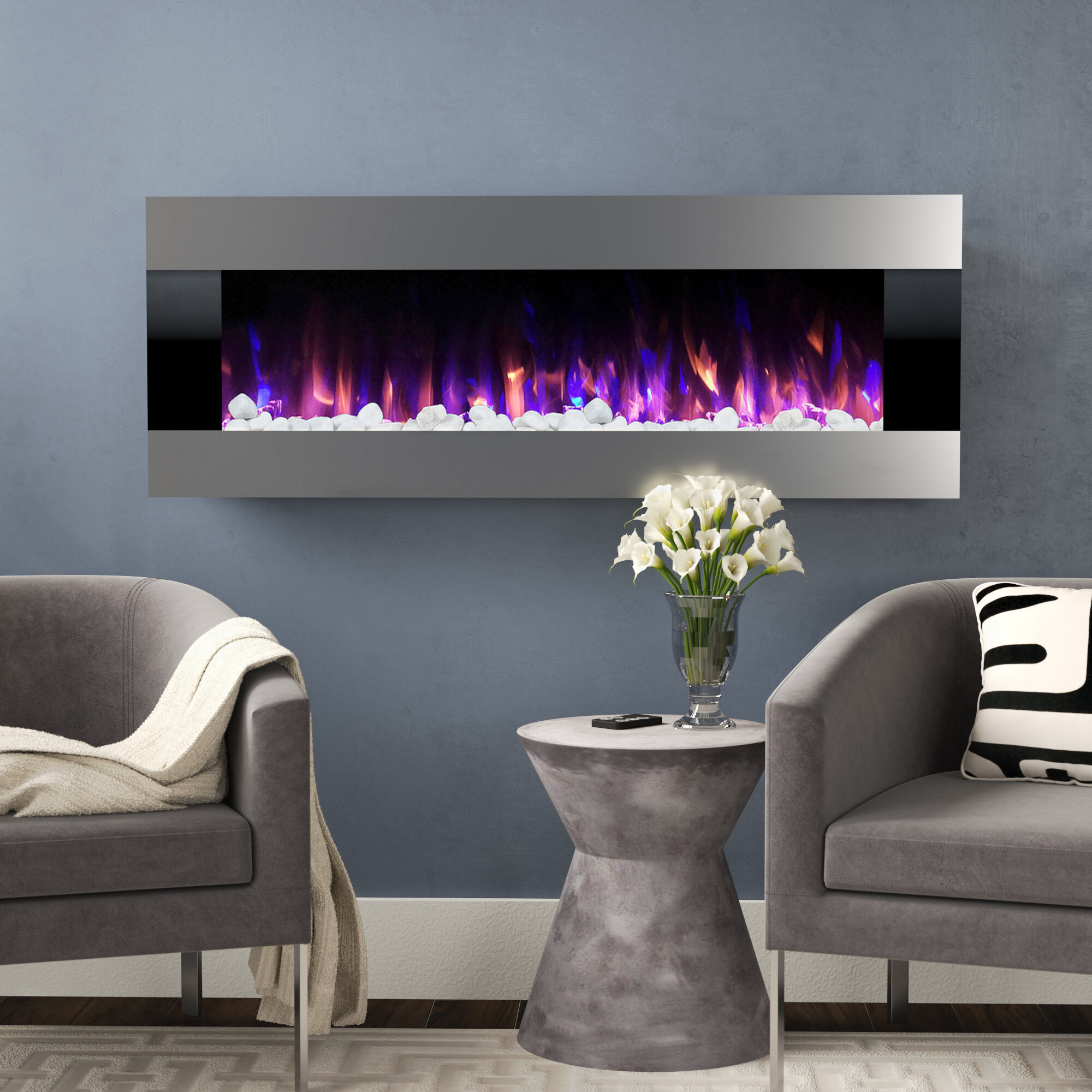 Tremendous Quesinberry Wall Mounted Electric Fireplace Interior Design Ideas Gentotryabchikinfo
