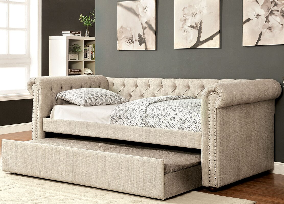 A&J Homes Studio Leona Daybed with Trundle & Reviews | Wayfair