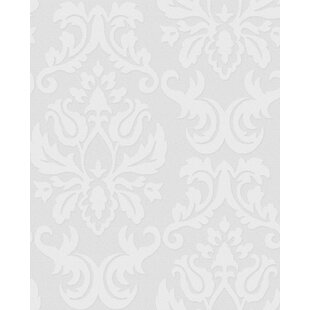 Adeline 33 X 20 Damask Embossed Wallpaper Roll