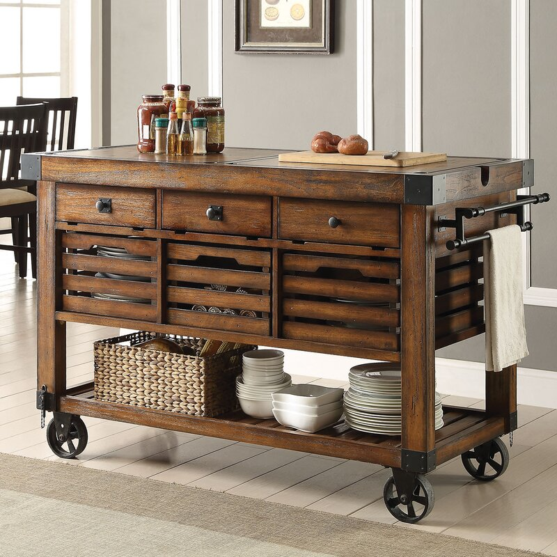 ACME Furniture Kaif Kitchen Cart & Reviews | Wayfair