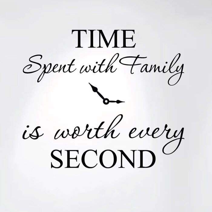 Time Spent with Family is Worth Every Second  Home Clock Wall Decal  sc 1 st  Wayfair.ca & Innovative Stencils