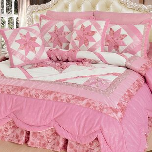 Awesome New Girly Girl 5 Piece Quilt Set. By DaDa Bedding