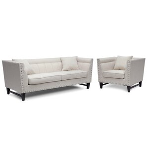 Baxton 2 Piece Living Room Set by Wholesale Interiors