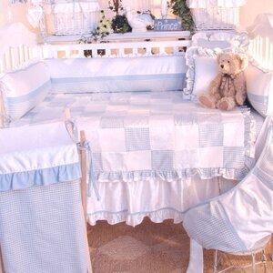 Prince Blue Deluxe 4 Piece Crib Bedding Set