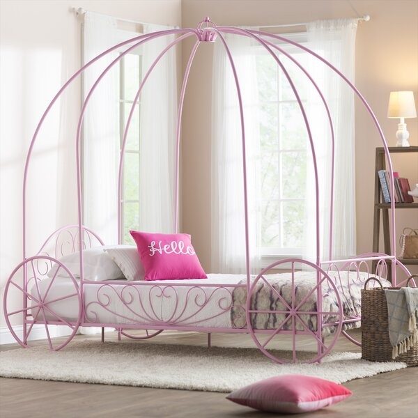 zoomie kids brandy twin canopy bed reviews wayfair. Black Bedroom Furniture Sets. Home Design Ideas