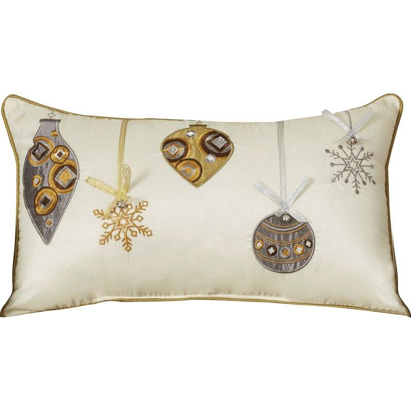 The Holiday Aisle Holiday Ornaments Lumbar Pillow