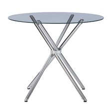 Round Glass Tables modern glass dining + kitchen tables | allmodern
