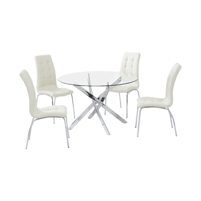 Dawson Dining Set with 4 Chairs