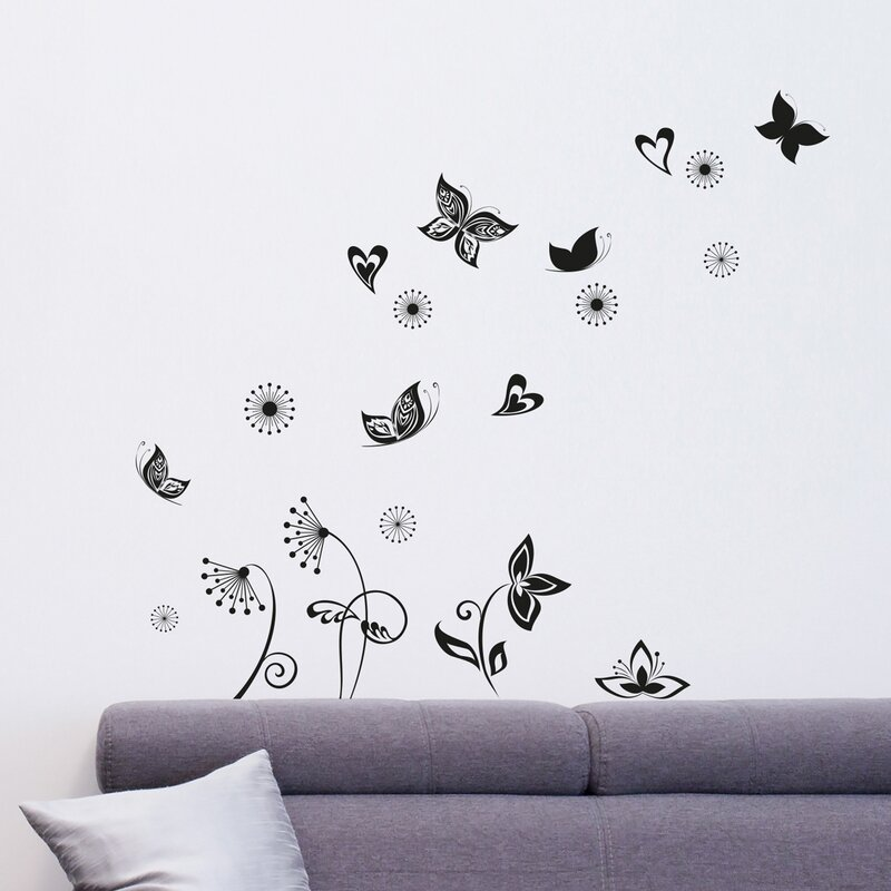 Wallpops home decor line butterflies silhouette wall for How to start a home decor line
