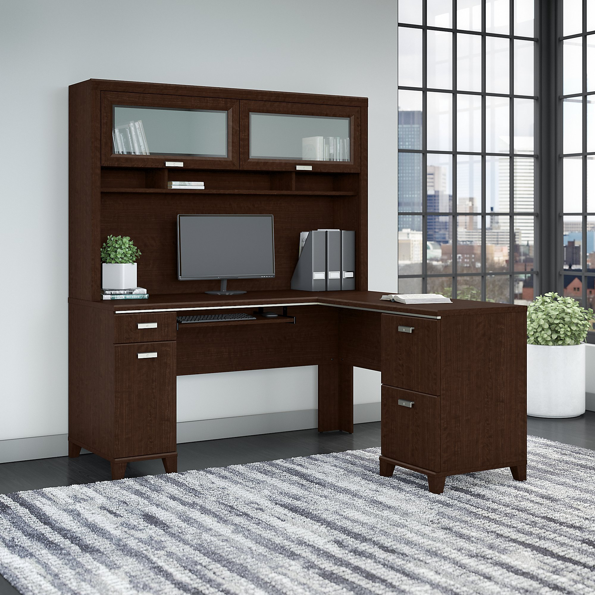 small hutch wood desk wooden solid white desks furniture with office shaped l big deals computer