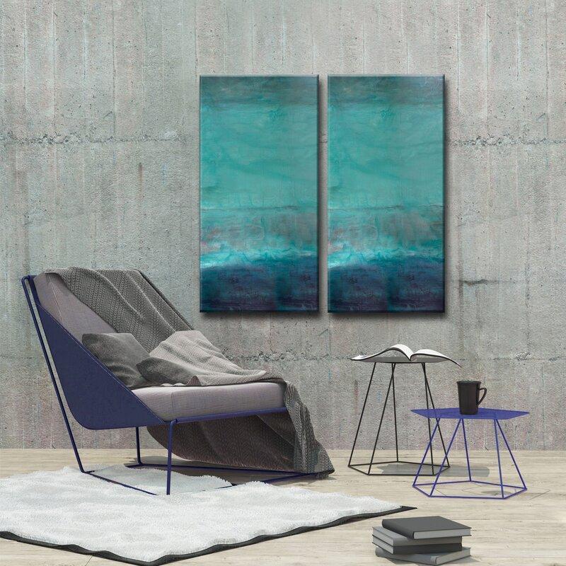 4bfa588b8c4 Mercury Row  Abstract Spa  2 Piece Painting Print on Canvas Set   Reviews