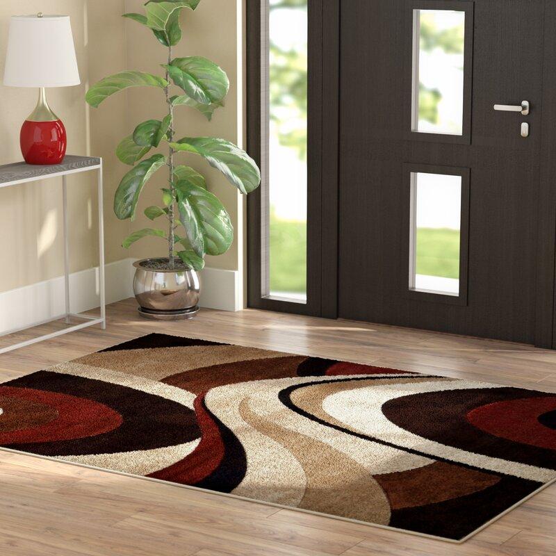 Ebern Designs Giannini Brownbeige Area Rug Reviews Wayfair