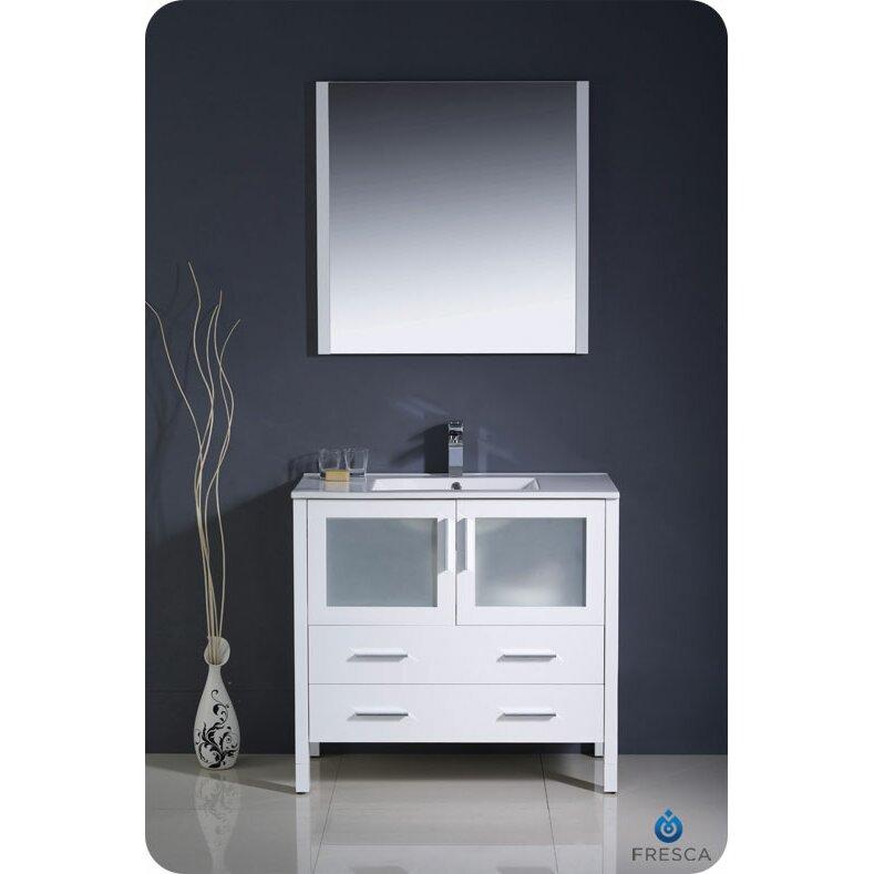 Fresca Torino 36 Single Modern Bathroom Vanity Set With Mirror Reviews Wayfair