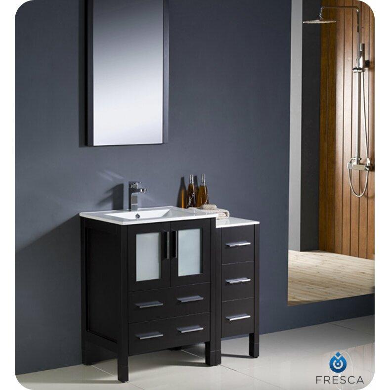"Fresca Torino 36"" Single Modern Bathroom Vanity Set with ..."