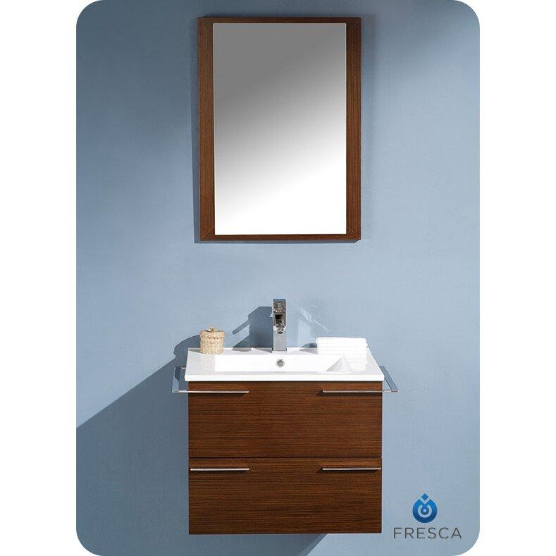 Fresca Cielo 24 Single Modern Bathroom Vanity Set With Mirror Reviews Wayfair