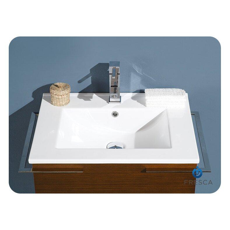 Cielo 24 single modern bathroom vanity set with mirror for All modern bathroom vanity