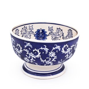 Embree Large Footed Decorative Bowl