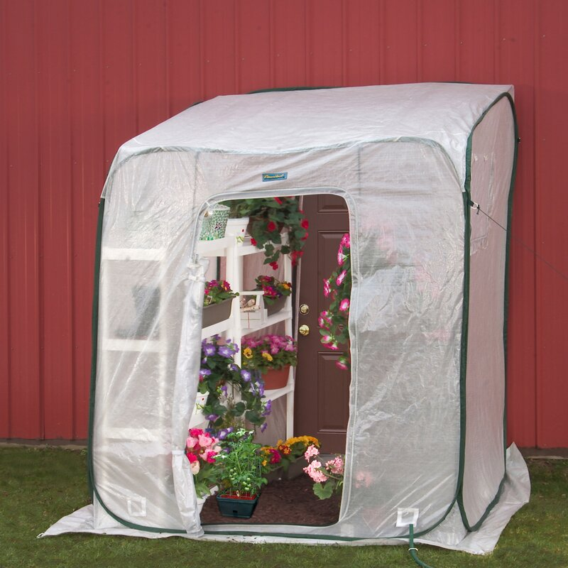 hothouse 6 ft w x 6 ft d leanto greenhouse
