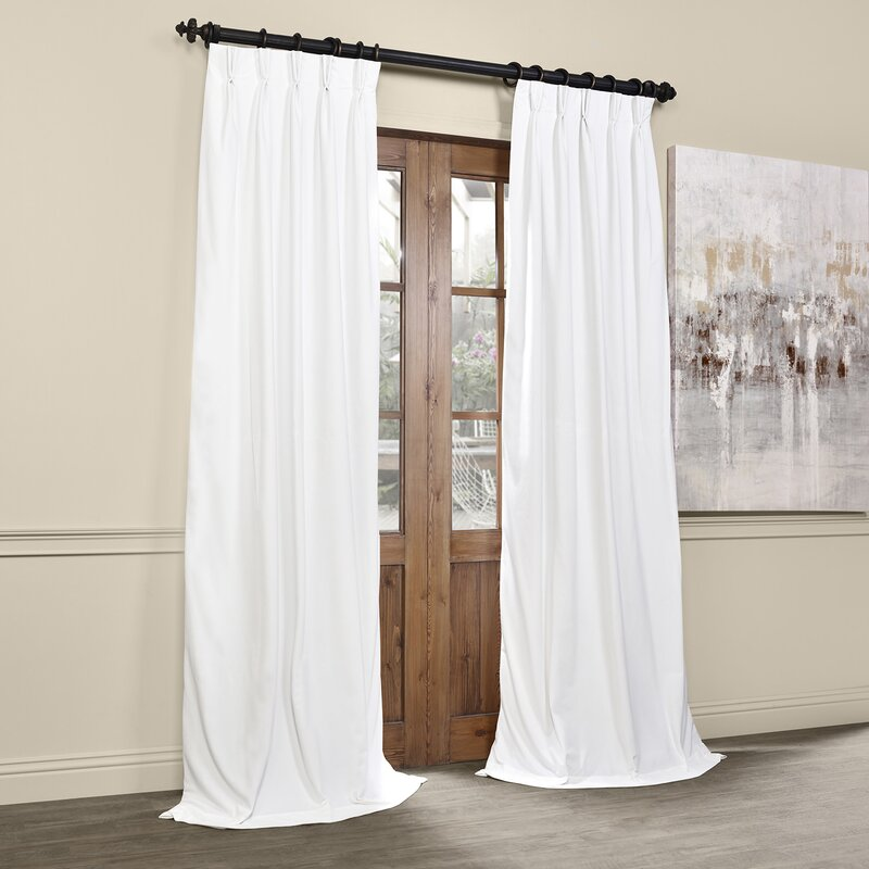 Pinch Pleated Thermal Insulated Drapes: Balone Solid Max Blackout Thermal Pinch Pleat Single