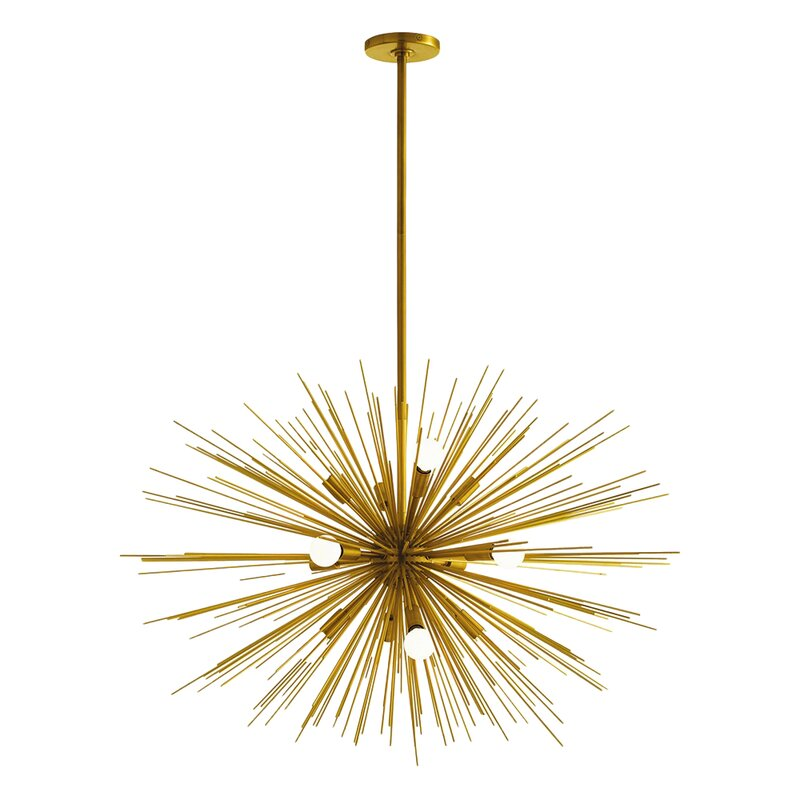 gold sputnik chandelier. Zanadoo Gold 12-Light Sputnik Chandelier Wayfair