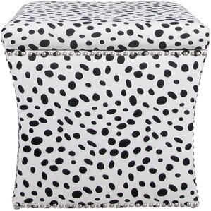 Wool Nail Button Ottoman by Mercer41