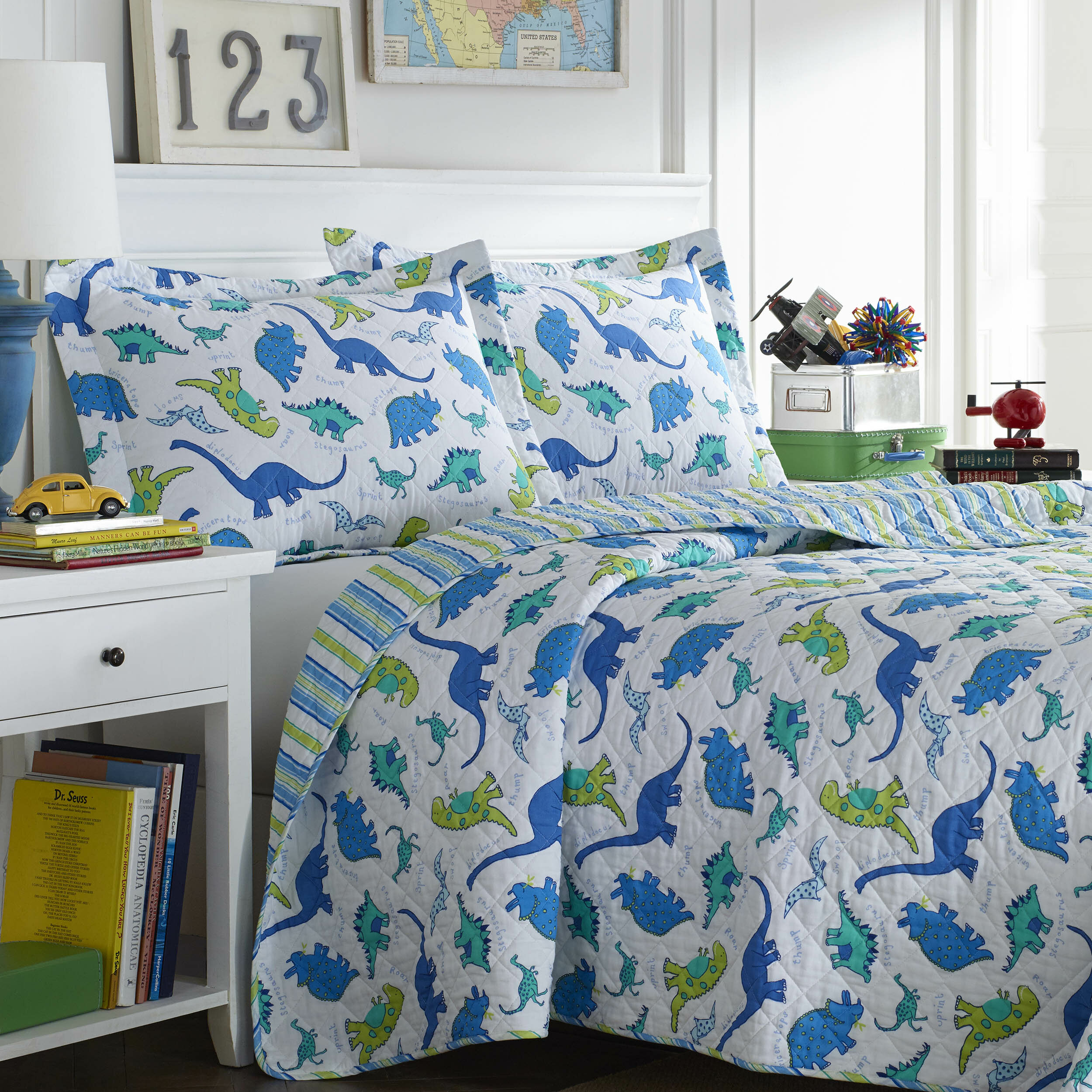 Laura Ashley Home Dinosaurs Reversible Quilt Set by Laura Ashley ...