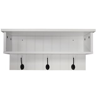 Schon Wall Mounted Hall Rack With Storage And 3 Coat Hooks ...