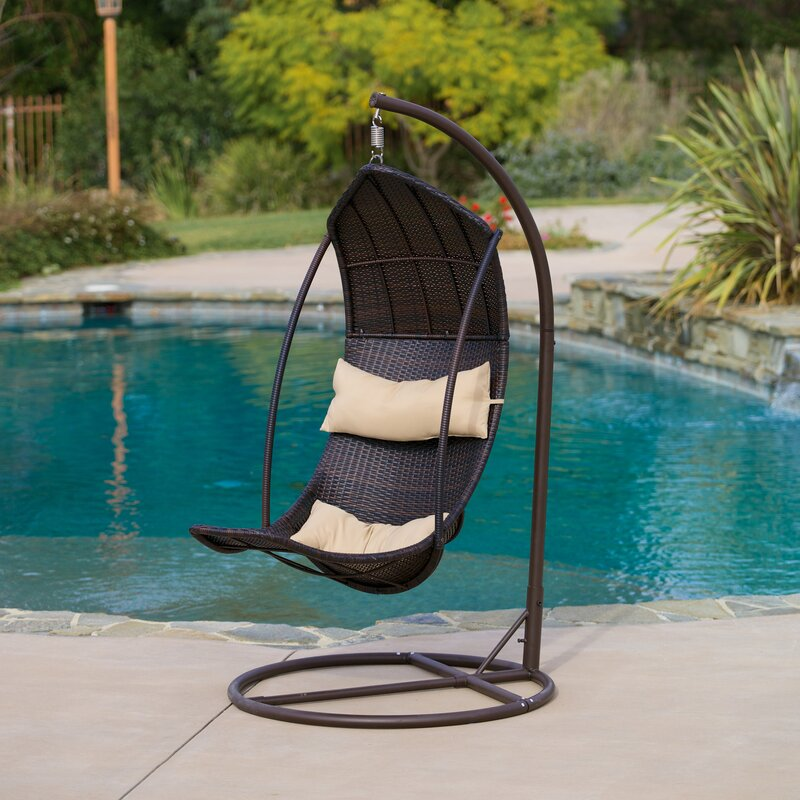 Home Loft Concepts Moorea Wicker Swing Chair With Stand Reviews