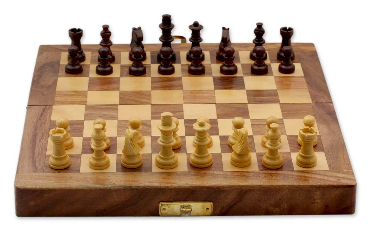 Decorative Chess Sets Novica Fair Trade Decorative India Wood Chess Set Game & Reviews