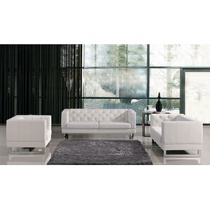 Alsatia Leather 3 Piece Living Room Set by Wade Logan
