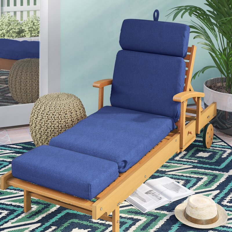 Indoor Outdoor Polyester Sunbrella Chaise Lounge Cushion