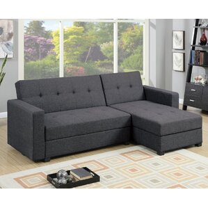 sc 1 st  Wayfair : leather sectional sofa with sleeper - Sectionals, Sofas & Couches