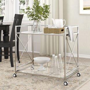 Ducote Industrial Modern Iron/Glass Bar Cart