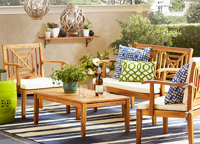Wood outdoor furniture set - How To Pick The Right Outdoor Furniture Joss & Main