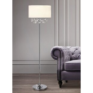 Crystal tower floor lamp wayfair elina crystals 61 floor lamp aloadofball Images