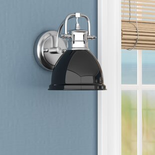 Captivating Black Shade Wall Sconce | Wayfair