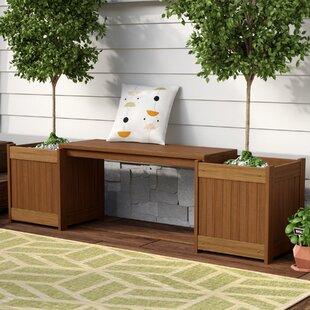Outdoor Planter Bench Planter outdoor benches youll love wayfair arianna rectangular wood planter bench workwithnaturefo