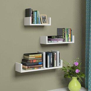 U Shaped 3 Piece Floating Shelf Set