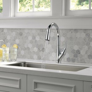 Delta Esque Single Handle Pull Down Kitchen Faucet