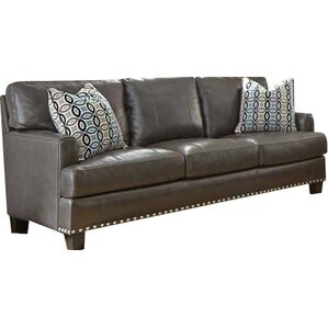 Mesilla Leather Sofa by World Menagerie